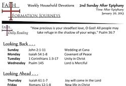 09 January 20 - 2nd Sunday After Epiphany Year C