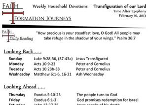 12 February 10 - Transfiguration Year C
