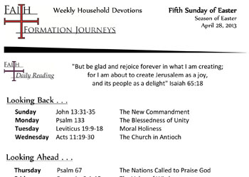 23 April 28 - Fifth Sunday of Easter Year C
