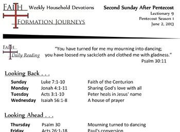 28 June 2 - 2nd Sunday Pentecost Lec 9 Year C