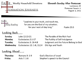 37 August 04 - 11th Sunday Pentecost Lec 18 Year C
