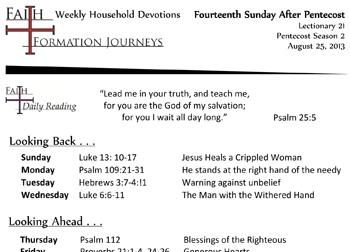 40 August 25 - 14th Sunday Pentecost Lec 21 Year C