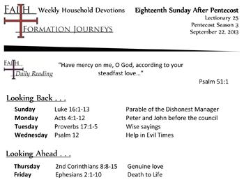 44 September 22 - 18th Sunday Pentecost Lec 25 Year C