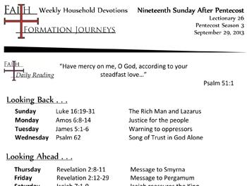 45 September 29 - 19th Sunday Pentecost Lec 26 Year C