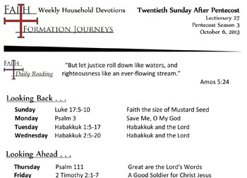 46a October 6 - 20th Sunday Pentecost Lec 27 Year C
