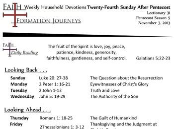 51 November 10 - 25th Sunday Pentecost Lec 32 Year C