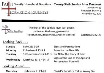 52 November 17 - 26th Sunday Pentecost Lec 33 Year C