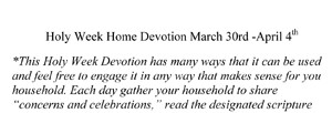 Microsoft Word - Faith + Alive Holy Week devo 2.doc