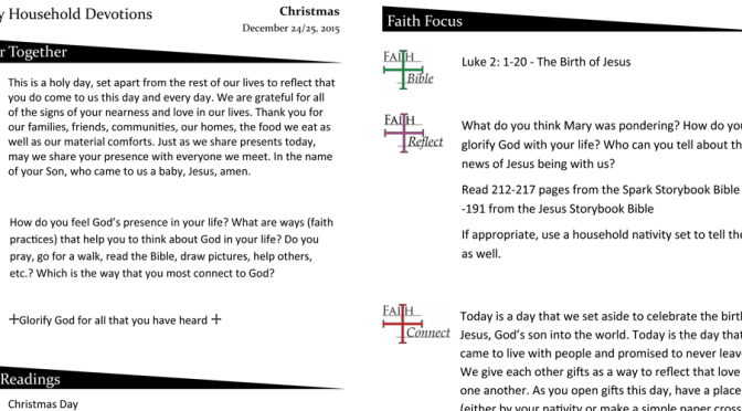 Christmas Household Devotions