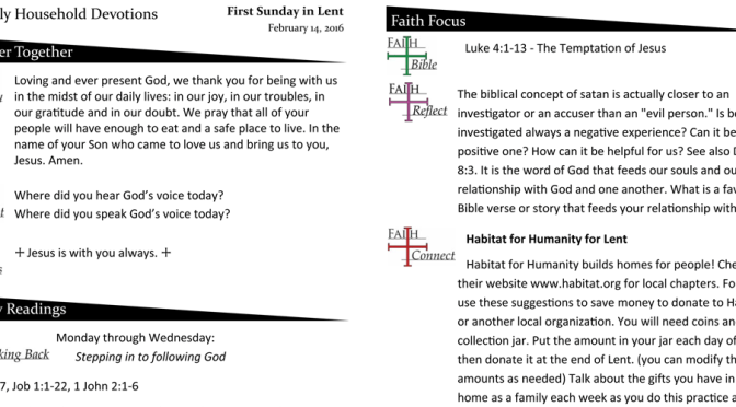 Weekly Devotion Page – Feb 14, 2016