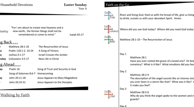 Weekly Devotion Page for Easter Sunday – Year A