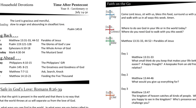 Weekly Devotion Page for Lec 17A