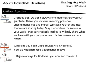 Devotion page for Thanksgiving – Year A