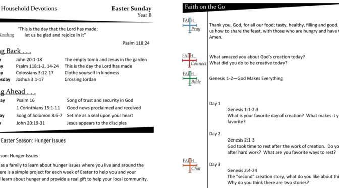 Weekly Devotion Page for Easter Sunday – Year B