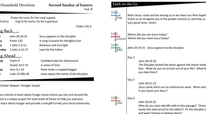Weekly Devotion Page for The Second Sunday of Easter – Year B