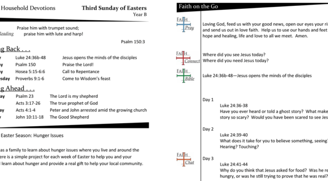 Weekly Devotion Page for the Third Sunday of Easter – Year B