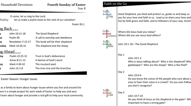 Weekly Devotion Page for the 4th Sunday of Easter – Year B