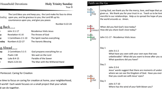 Weekly Devotion Page for Holy Trinity Sunday – Year B