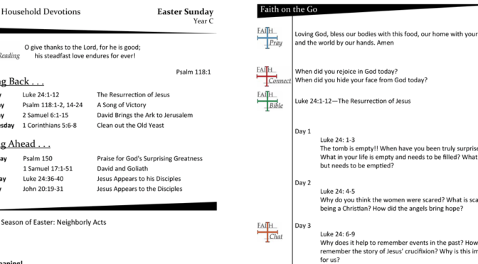 WEEKLY DEVOTION PAGE FOR Easter SUNDAY, YEAR C