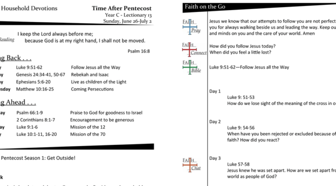 TIME AFTER PENTECOST – LECTIONARY 13, YEAR C