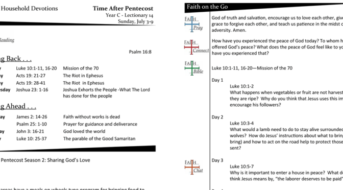 TIME AFTER PENTECOST – LECTIONARY 14, YEAR C