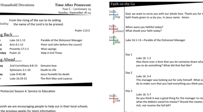 TIME AFTER PENTECOST – LECTIONARY 25, YEAR C