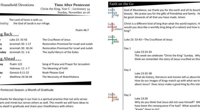 Christ the King Sunday – Lectionary 34, Year C